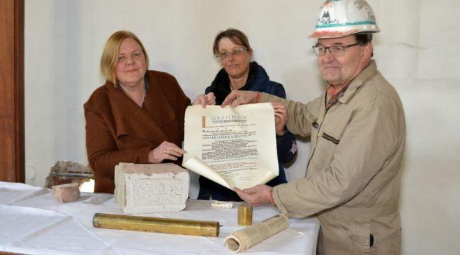 Urkunde im Grundstein der Ev. Erlöserkirche Köln Weidenpesch