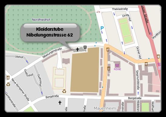 Kleiderstube Mauenheim | Übersichtskarte